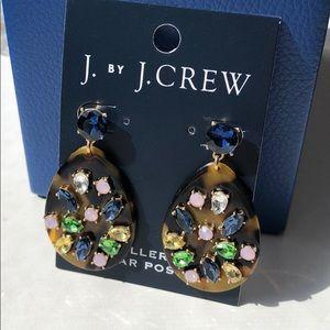 NWT!! J.Crew Factory Crystal Tortoise Drop Earring